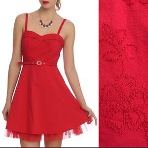 Royal Bones Hot Topic Gothic Red Dress
